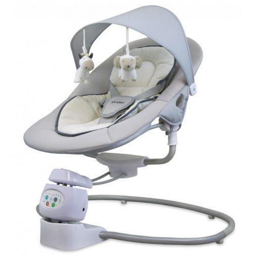 otroški glasbeni počivalnik z možnostjo obračanja za 360° in vibriranjem