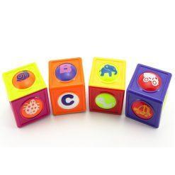 pisane igralne kocke s kroglico