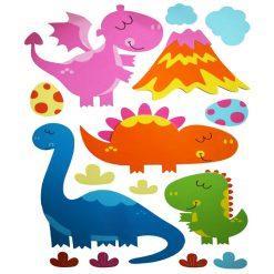 otroske stenske nalepke dinozavri