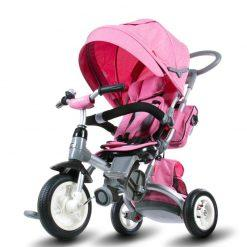 tricikel little tiger napihljiva kolesa pink