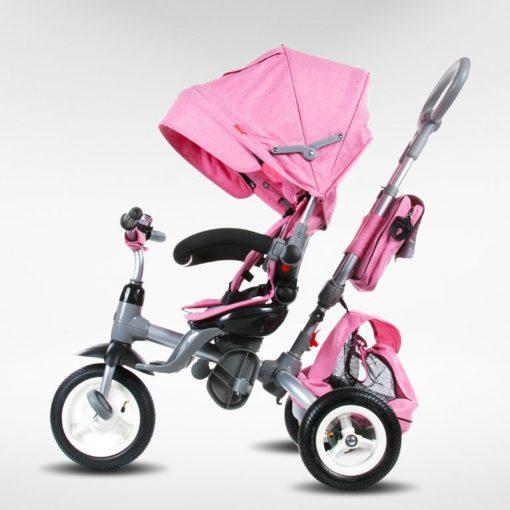 tricikel little tiger napihljiva kolesa pink2