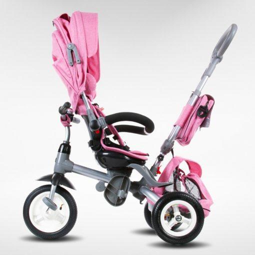tricikel little tiger napihljiva kolesa pink4