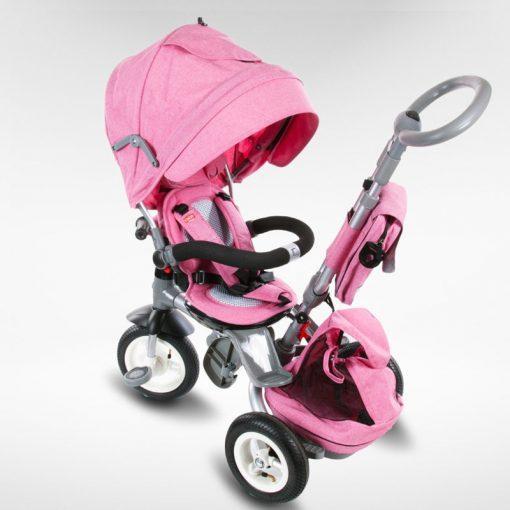 tricikel little tiger napihljiva kolesa pink5