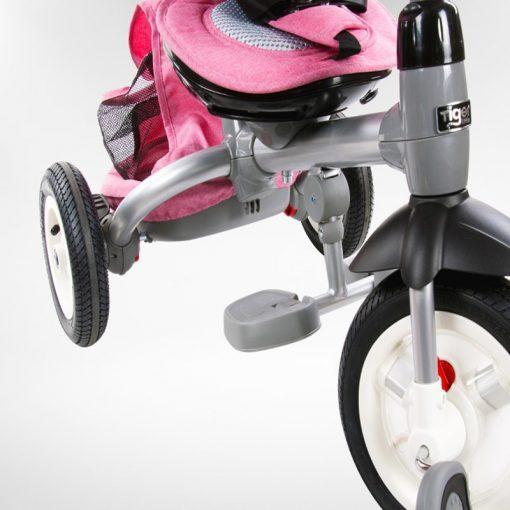 tricikel little tiger napihljiva kolesa pink7