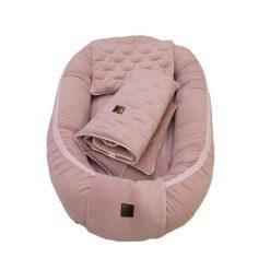 gnezdece bevelvet premium set roza