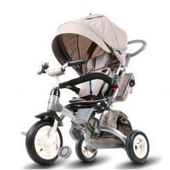 tricikel little tiger 4v1 napihljiva kolesa siva
