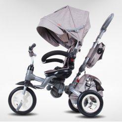 tricikel little tiger 4v1 napihljiva kolesa siva 2