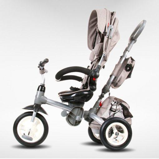 tricikel little tiger 4v1 napihljiva kolesa siva 3
