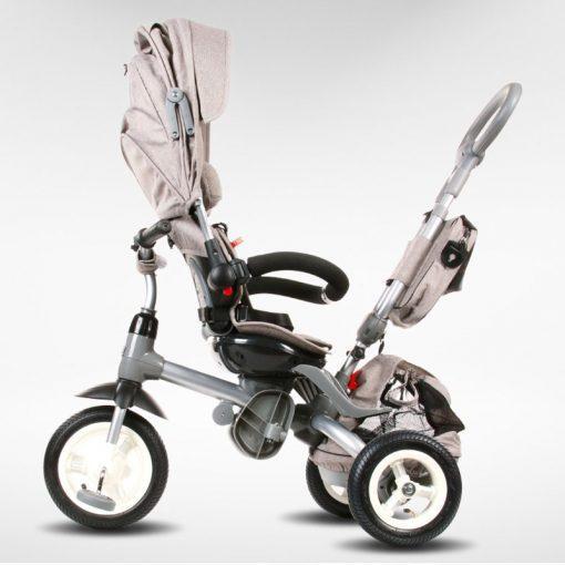 tricikel little tiger 4v1 napihljiva kolesa siva 4