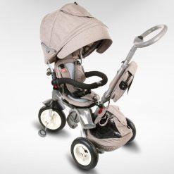 tricikel little tiger 4v1 napihljiva kolesa siva 5