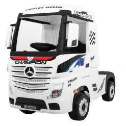 avto tovornjak na akumulator mercedes actros beli