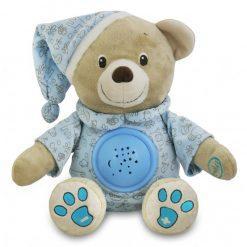 glasbeni medvedek s projektorjem moder