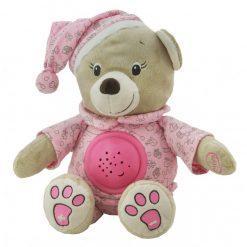 glasbeni medvedek s projektorjem roza