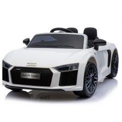 avto na akumulator audi r8 spyder beli