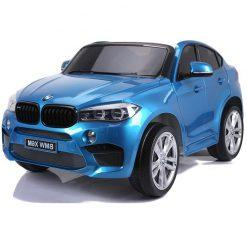 avto na akumulator bmw x6m dvosed blue