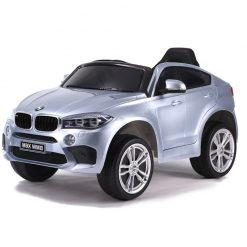 avto na akumulator bmw x6m srebrn lakiran