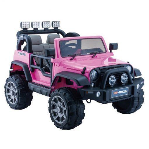 avto na akumulator jeep hp12 pink
