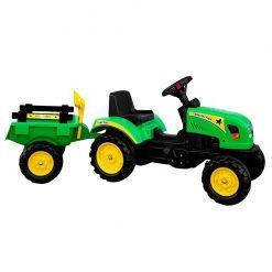 otroski traktor s prikolico Branson zeleni