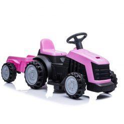 otroski traktor z akumulatorjem roza