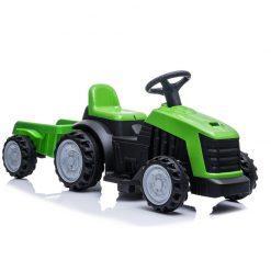 otroski traktor z akumulatorjem zelen
