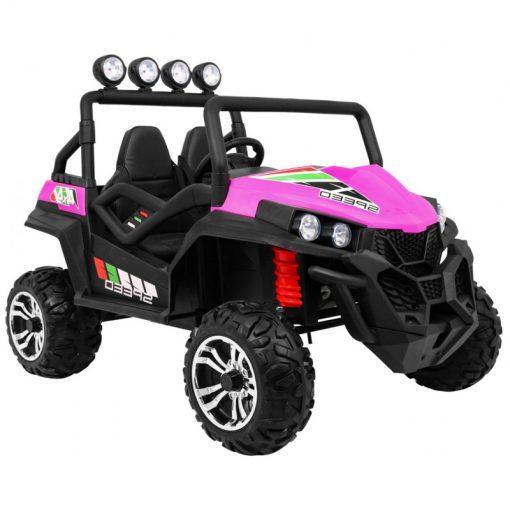 mega buggy 4x4 2x12v speed pink