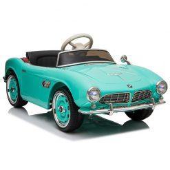 avto na akumulator retro bmw zelen