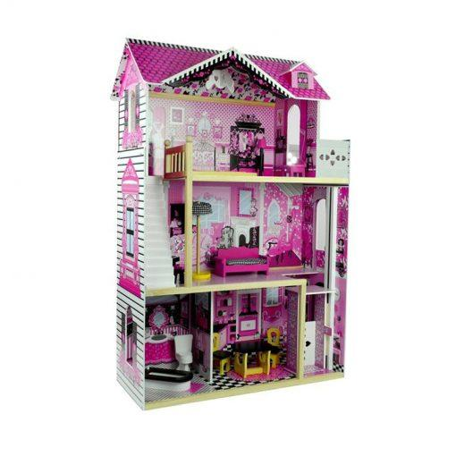 lesena hišica za punčke villa 121 cm