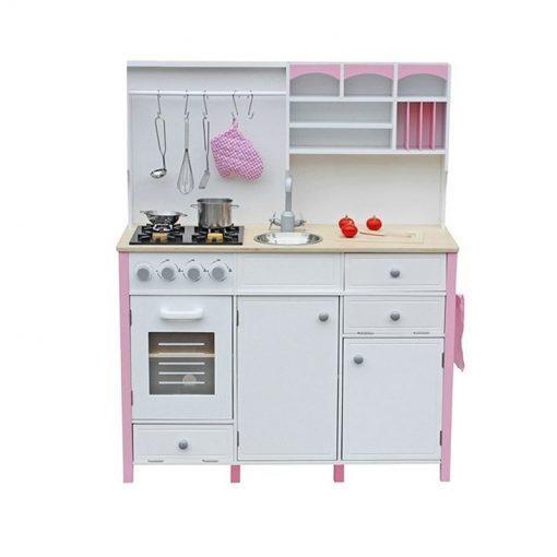 otroska kuhinja s pecico in dodatki pink