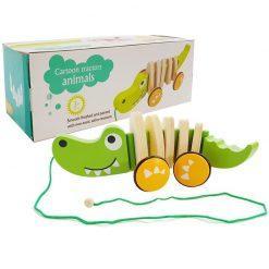 lesena igrača krokodil minilu