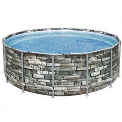 power steel bazen z vzorcem kamna 427x122cm