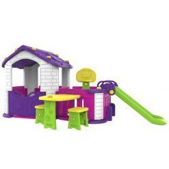 otroška hiška z vrtom